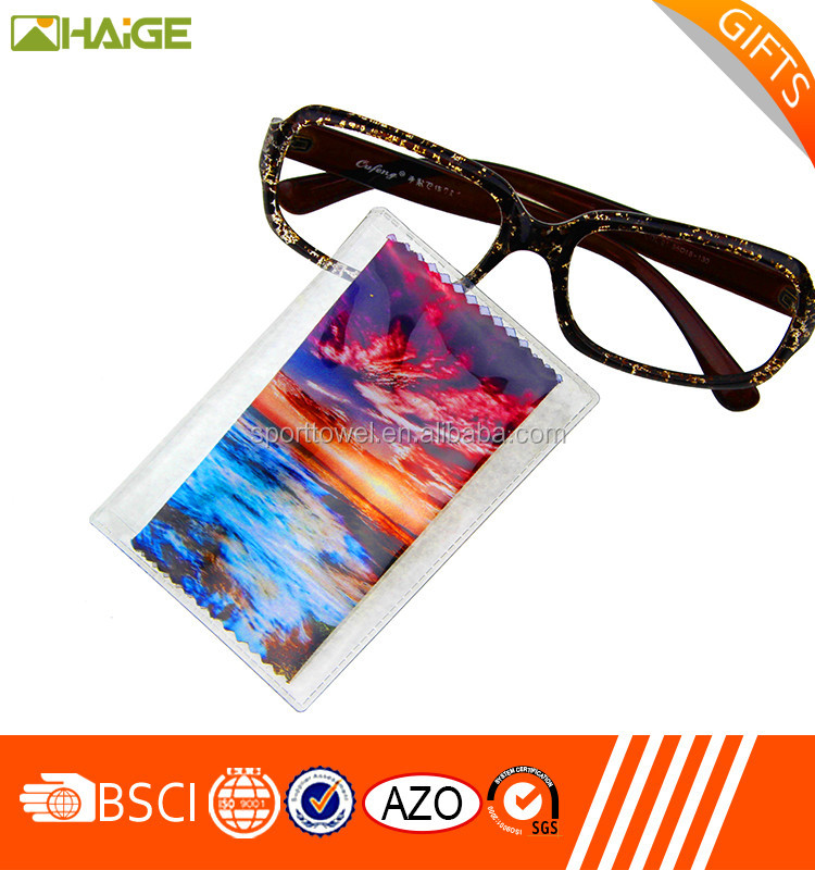 Gentle eyeglasses cleaning wiper /lens cleaning cloth/screen cleaning wipe