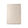 Unique Design Multi Folding PU Leather Smart Case Clear Back Cover with Auto Sleep Function for Apple iPad Mini 3 4