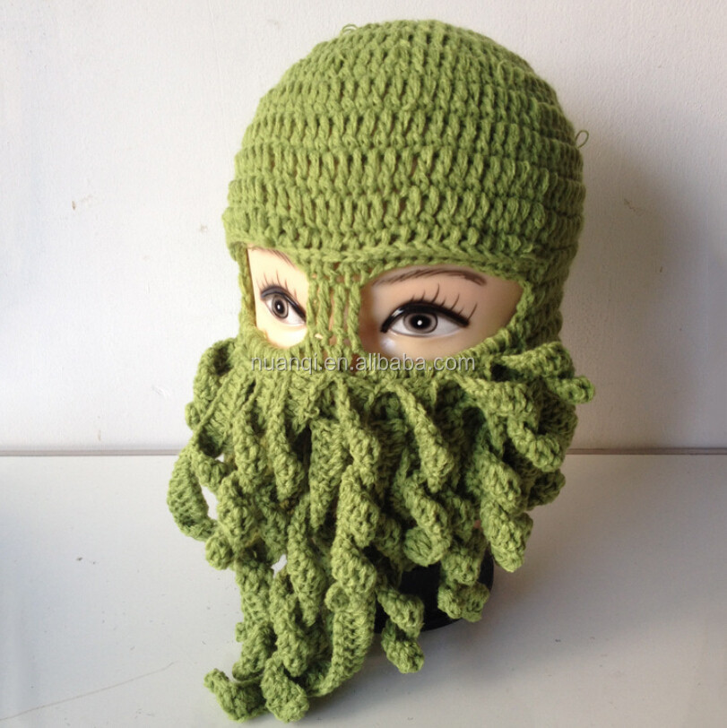 Knitting Pattern Octopus Hat : Crazy Knit Octopus Ski Mask Hat - Buy Ski Mask Hat,Knit Octopus Ski Mask Hat,...