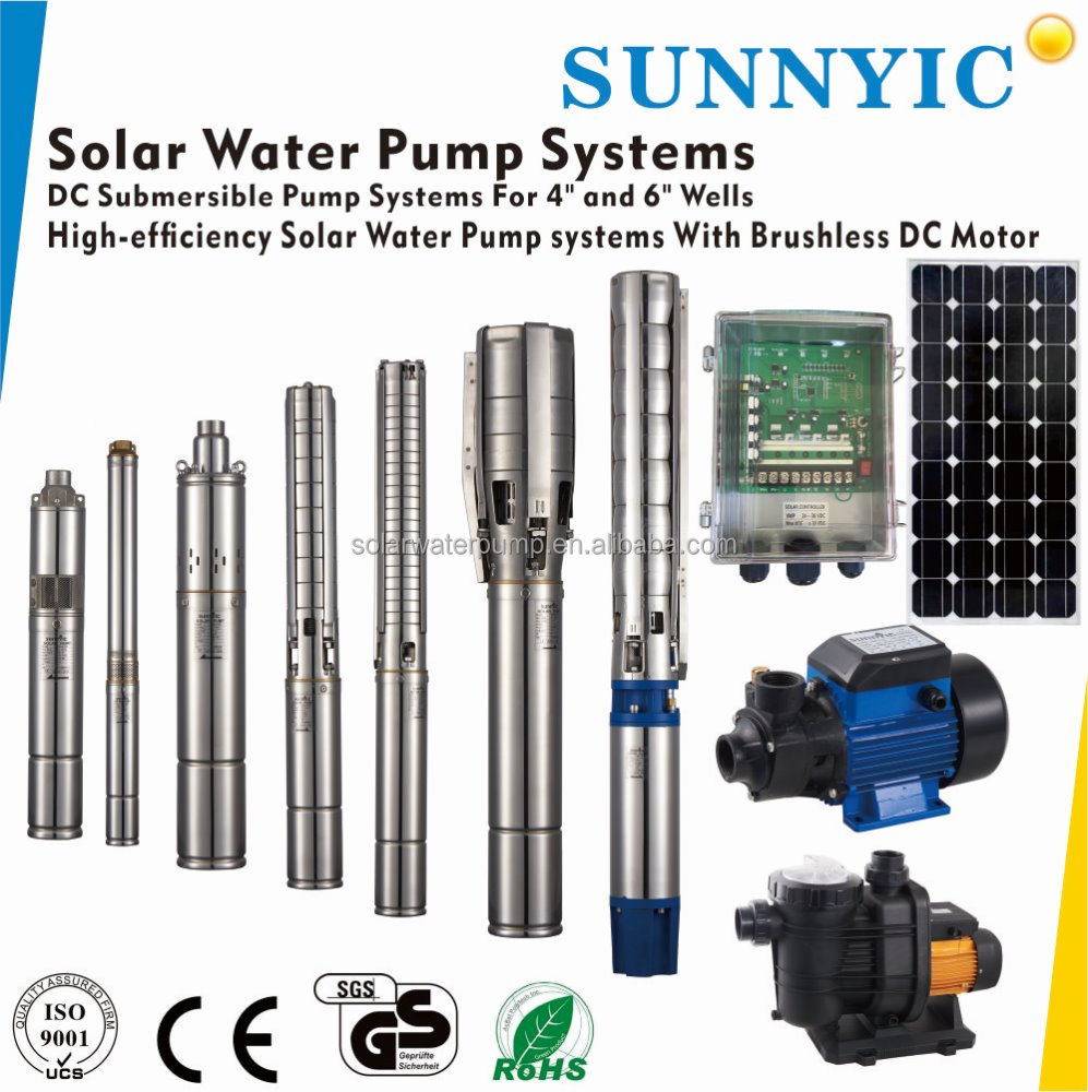 6 inches solar water pumping system for private farm irrigation With MPPT controller