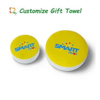 100% cotton compressed towels birthday return gifts