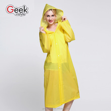 2016 fashion transparent one-off extended folding rain coat