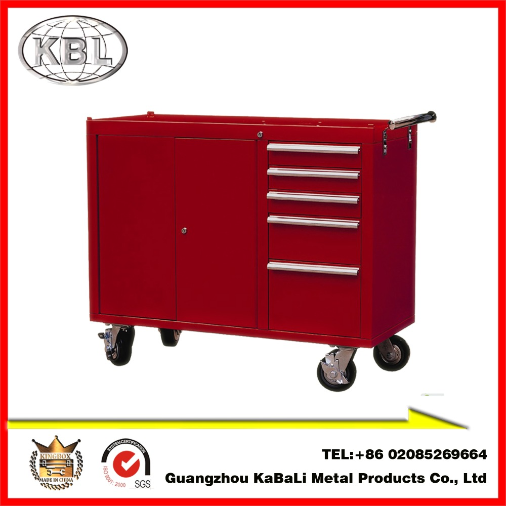 Utility 5 drawers 4 wheels Tools/Workbench/Garage Trolley Tools Boxes(KBL-L41B)(OEM/ODM)