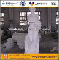 Charming Nude Girl Marble Sculpture