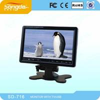 Bulk Cheap Chinese Car Monitor Stand 7 inch LED TV Monitor