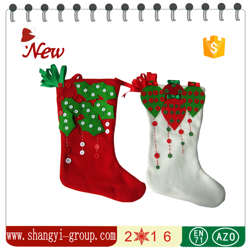 XS-10AB Unique design handmade pure wool felt craft christmas decoration christmas stocking