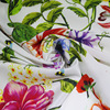 Digital print italian pure silk crepe fabric for scarf or garment