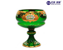 wholesale factory 0820w white glass fruit holder cheap green fruit bowl antique glass bowl