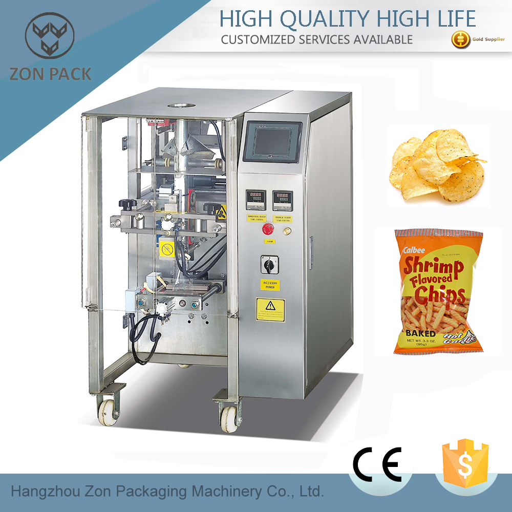 Hot selling potato chips packaging machine price