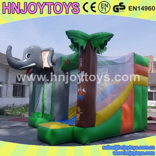 Lion and Elephant Inflatable Bouncer, Safari Inflatable Bounce