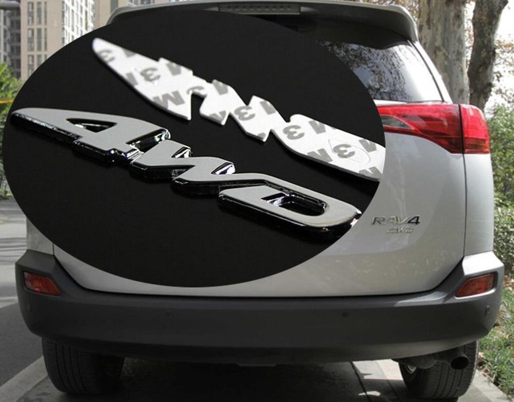 Offroad SUV Rear Tailgate Trunk Chrome 3D 4WD Emblem Metal Decal Sticker Badge