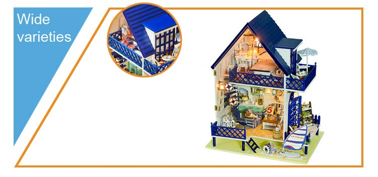 Kids doll house doll house wooden doll house