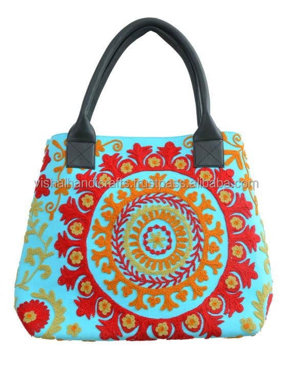 Buy Traditional Exotic Unique Embroidery Suzani Bags Women Beach Carry Bag