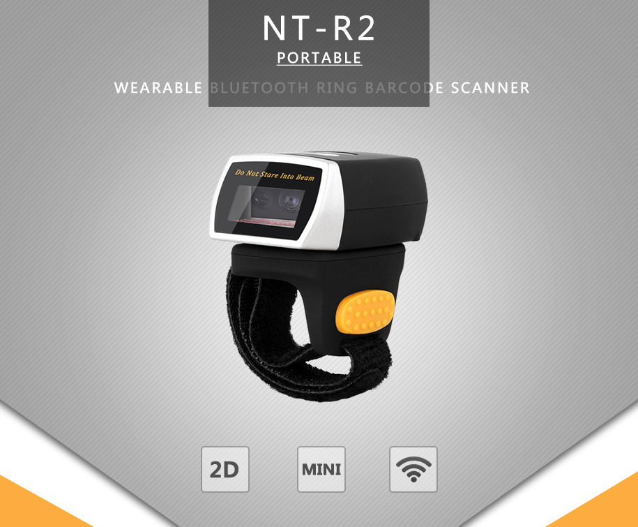 NT-R3 wearable 1d ccd mini bluetooth ring reader finger barcode scanner for Android, IOS, Window