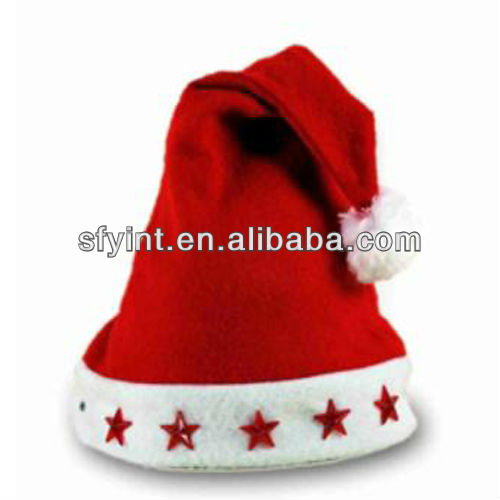 Flashing Led Light Christmas Santa Hat