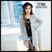 N9106 Spring Autumn Fashion Overcoats Long Mohair Women Coat