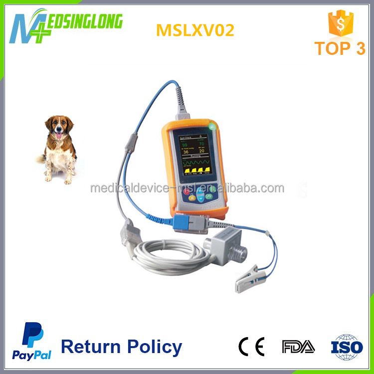 Handheld Pulse Oximeter Veterinary Capnograph Monitor with Mainstream CO2 MSLXV02