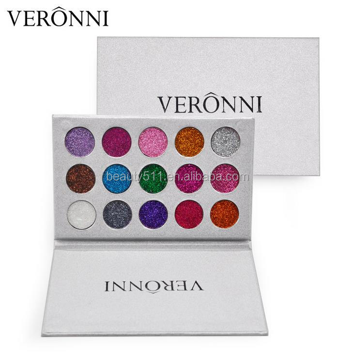 OEM New style 15colors Multipurpose Pearly-lustre Diamond Paillette Eye shadow Pans