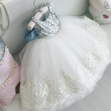 1 -10years Lace Tutu Princess Baby Kids Girl Bowknot Lace Floral Dress Christmas Wedding Party Formal Dresses