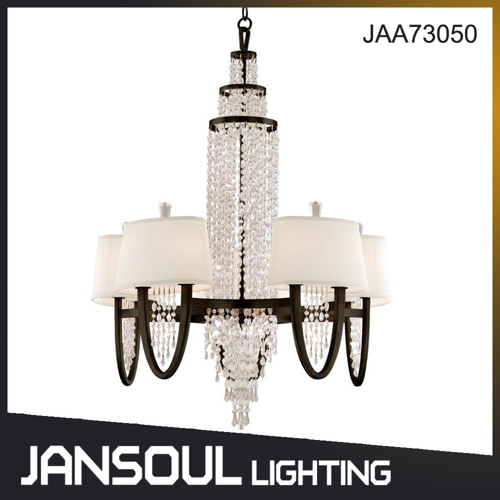 European traditional antique silver interior crystal chandelier led pendant lighting for villa high ceiling dining room