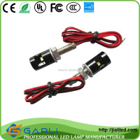 Factory directly sales new fashion waterproof motorcycle or car color mini license led bulb light with cable 12-24dcv