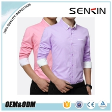 2017 different color Twill Mens business dress shirt with chest Pocket