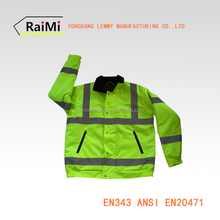 100% Polyester Material Breathable Feature Soft Shell Safety Yellow Jacket OEM Service 3m reflective safety jacket