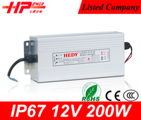 Superior service Guangzhou factory price led switch power constant voltage single output 17A 12vdc 200 watt astec power supply