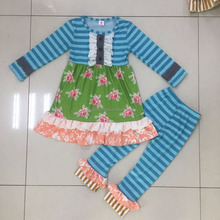 adorable childrens clothing sets fall top and pant with ruffle outfit