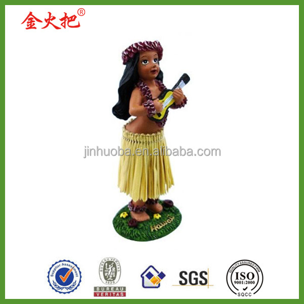 Cheap resin lift size 5'' hawaiian hula little surfah surfer doll