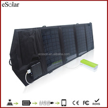14 watts sunpower fold solar panel, high efficiency cloth solar panel for camping hiking traveling
