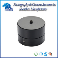 "New 1/4"" 360 Degrees Panning Rotating Time Lapse Stabilizer Tripod Adapter for Gopro DSLR Digital Camera"