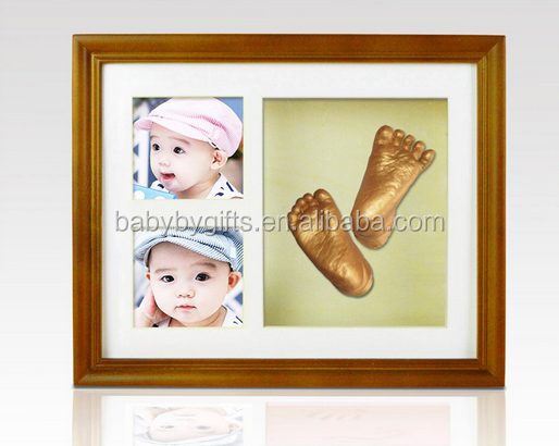 Hot sale baby handprint and footprnt frame art 3d casting foot moulding alginate
