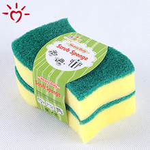 Causal OEM logo cheap kitchen cleaning sponge scourer