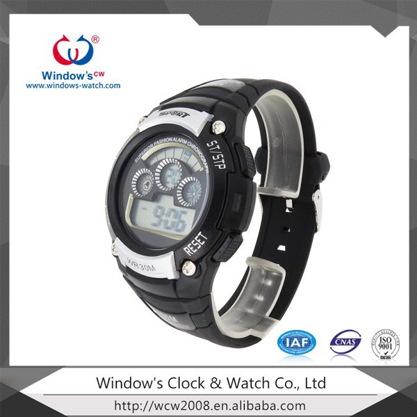 black watch multifunction digital altimeter silicone watches
