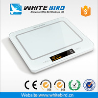 5kg/1g LCD tempered glass electronic digital kitchen weighing scales for fruits and food