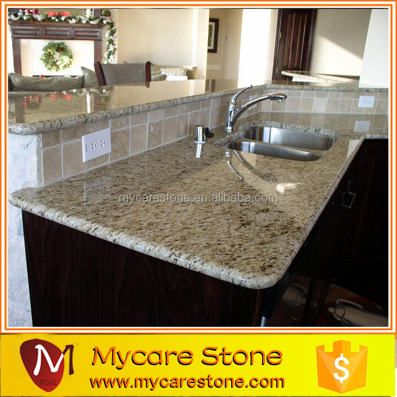 Pre cut giallo granite countertop for kitchen or bathroom