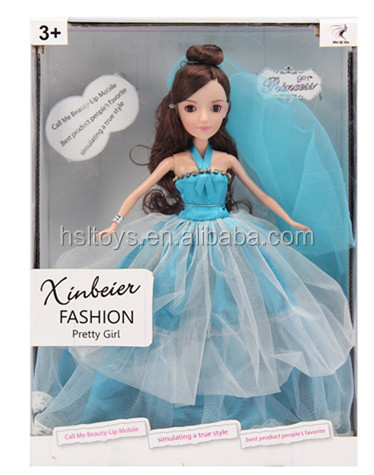 Beauty barbie girl fashion doll toy