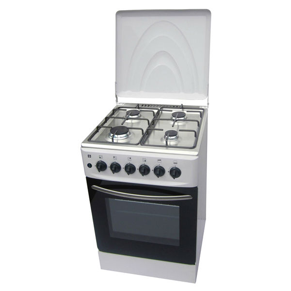 Camping Free Standing Gas Cooker Oven With 4 Burners Cap