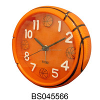 2015 plastic basketball alarm clock for promotion gifts