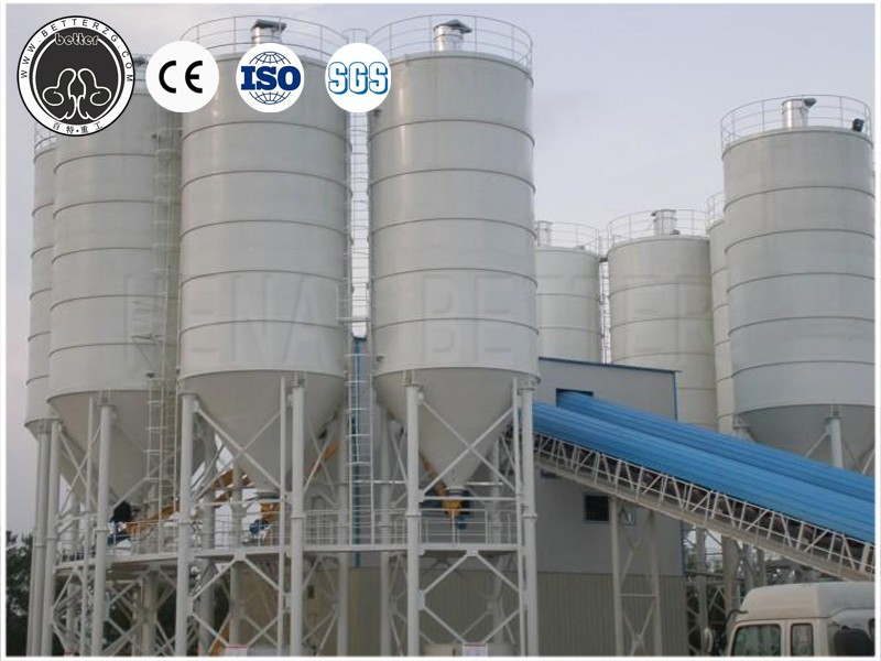 Portable cement silo, grain silo