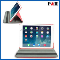 360 Degree Roating Leather Case with Swivel Stand for ipad air manufacture quality