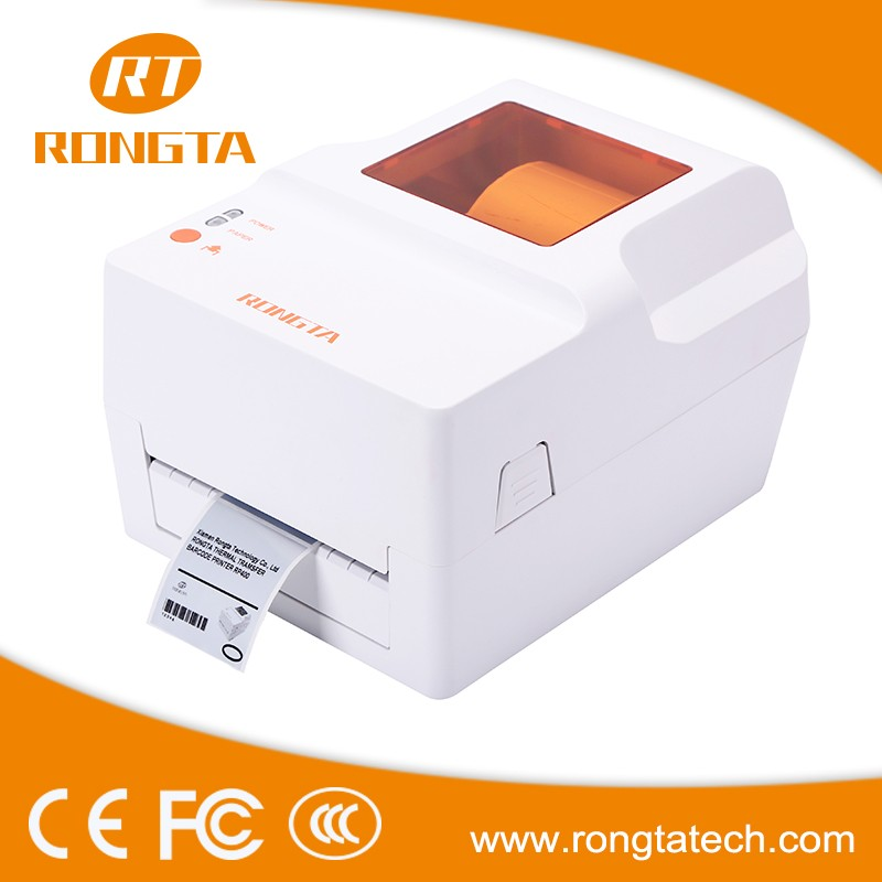 4inch 203DPI barcode printing use thermal transfer printing method water proof barcode label printer