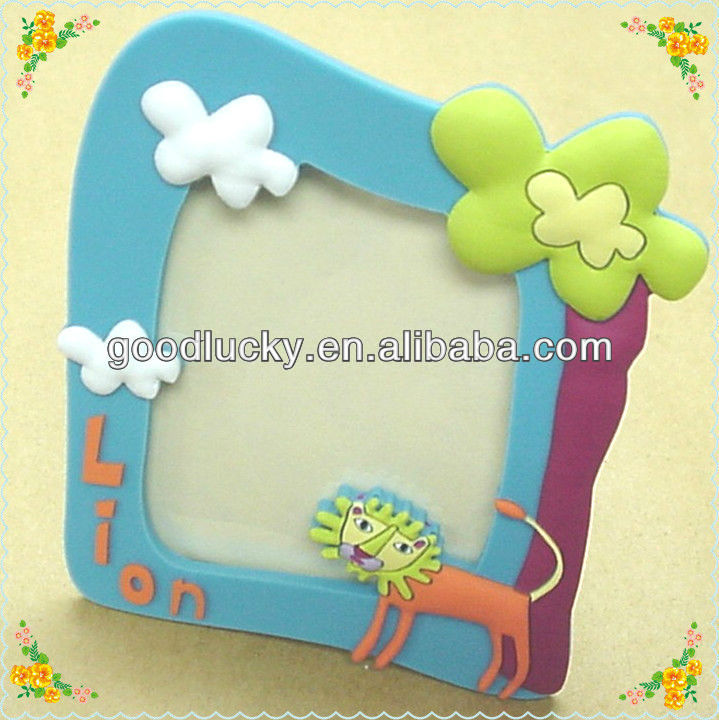 OEM Factory print your own logo soft pvc magnetic photo frame