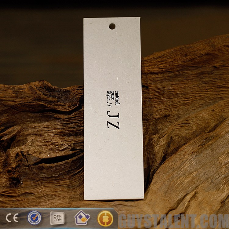 Factory hot sales ground paper tag for clothing