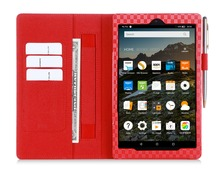China Product Factory Price Penholder Flip PU Leather Tablet Case For Kindle Fire HD 8inch