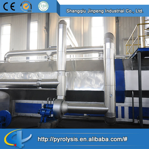 Newest design high quality Continuous old tyre and scrap plastic pyrolysis plant