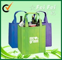 Hot sale wholesale non woven 6 bottle wine bag