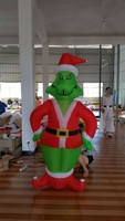 hot sale indoor or outdoor lighting christmas grinch inflatables