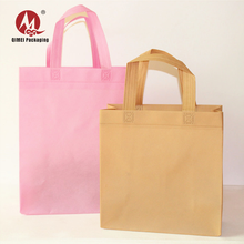 Eco-friendly reusable fabric folding laminated shopping non-woven tote bag with handle and logo